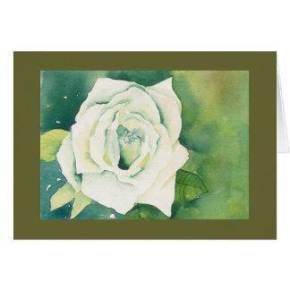 Carte pour notes de rose blanc