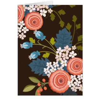 Carte pour notes floral de blanc de jardin de
