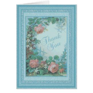 Carte pour notes floral vintage de Merci