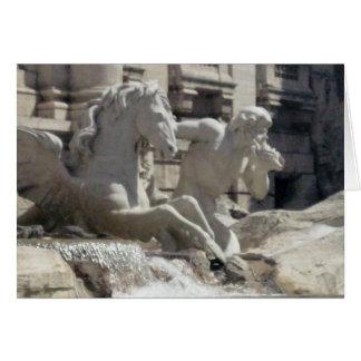 Carte pour notes - la fontaine de Treve à Rome