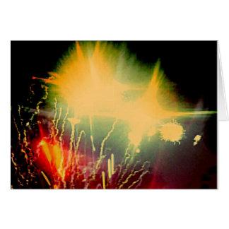 Carte pour notes lumineux de feux d'artifice