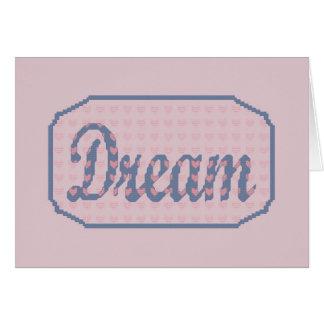 Carte pour notes rêveur