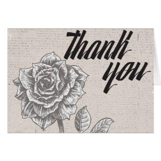 Carte pour notes rose de Merci