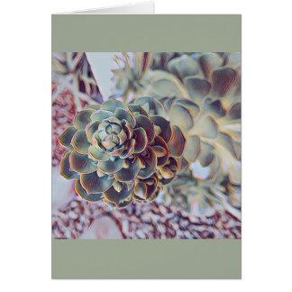 Carte pour notes succulent - blanc