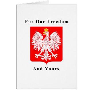 Carte Pour notre liberté et le vôtre