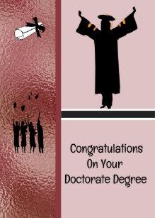 Carte Pour Un Degre De Doctorat En Bronze
