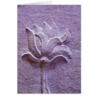 Carte pourpre de sculpture en Lotus
