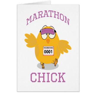 Carte Poussin de marathon