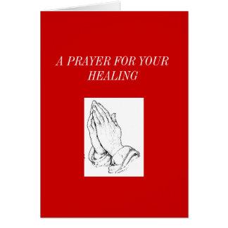 Carte praying_hands, UNE PRIÈRE POUR VOTRE GUÉRISON
