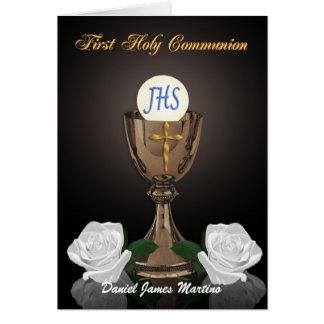 Carte Premier calice d'invitation de communion sur le