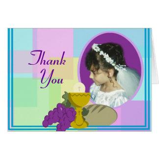 Carte Premier Merci de communion