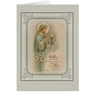 Carte Première eucharistie de Vierge Marie de sainte