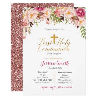 Carte Première fille d'invitations de sainte communion