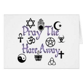 Carte Priez le pourpre de haine loin