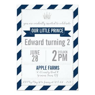 Carte Prince Birthday Invite de parties scintillantes