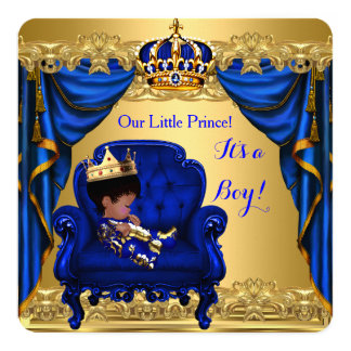 Carte Prince bleu royal de garçon de baby shower petit