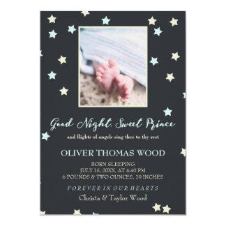 Carte Prince doux Baby Memorial Announcement de bonne