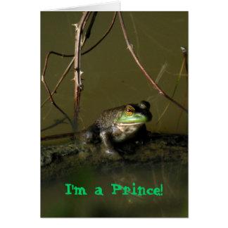Carte Prince Valentine Card de grenouille verte