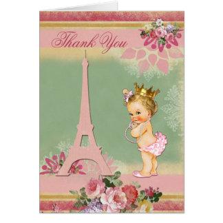 Carte Princesse baby shower de Paris de Merci