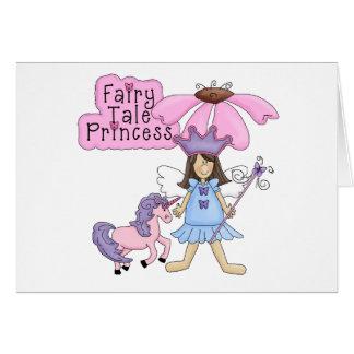 Carte Princesse de conte de fées de brune