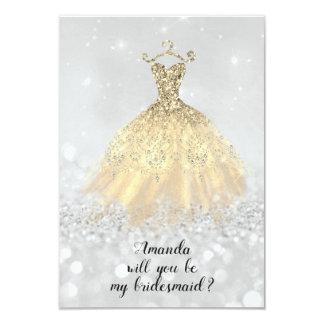 Carte Princesse de robe de diamant de parties