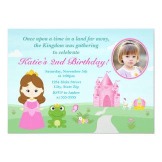 Carte Princesse et la brune d'invitation d'anniversaire