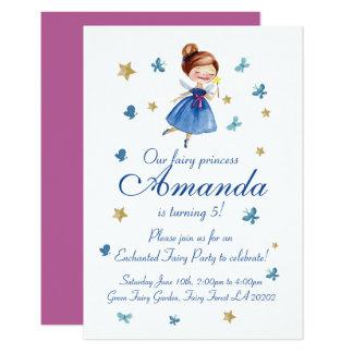 Carte Princesse féerique MIGNONNE Butterfly Birthday
