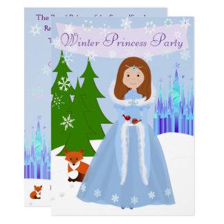 Carte Princesse Party Brown Hair d'hiver