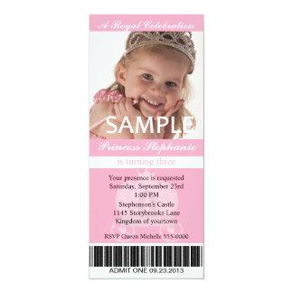 Carte Princesse Party Ticket de photo