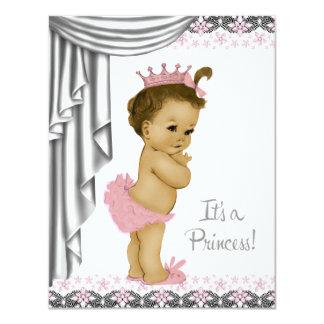 Carte Princesse Pink et douche grise de bébé