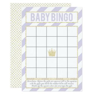 Carte Princesse pourpre Baby Bingo de parties