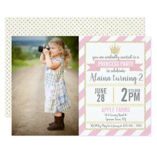 Carte Princesse rose Birthday Picture Invite de parties
