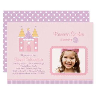 Carte Princesse rose de l'invitation   de fête