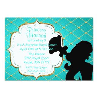Carte Princesse royale avec l'invitation de partie de