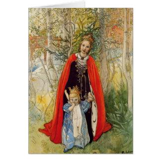 Carte Princesse Spring Mother et fille