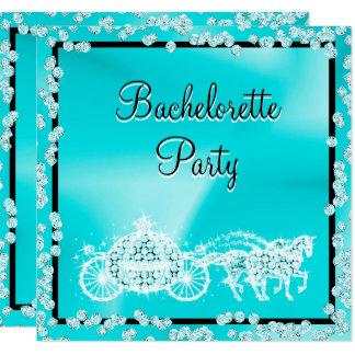 Carte Princesse turquoise Coach et partie de