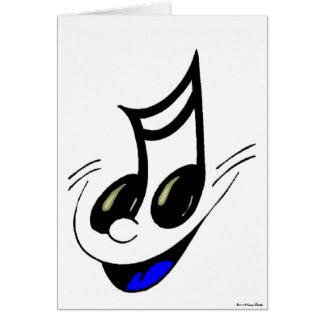 Carte principale de musique heureuse