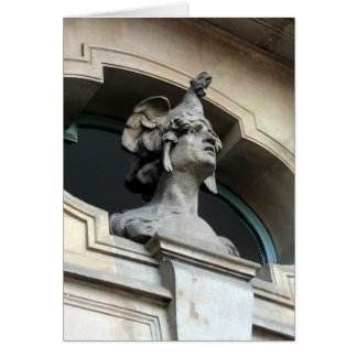 Carte principale de statue de poulet