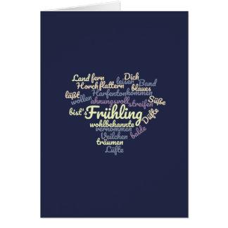 Carte Printemps - poème comme Wordcloud