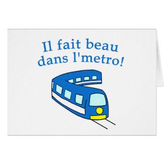 Carte Produits de métro de Montréal d'amusement