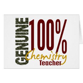 Carte Professeur véritable de chimie