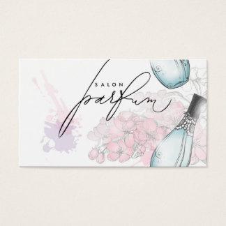 Carte professionnelle de parfum de beauté de salon