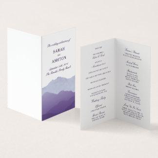 Carte Programme de mariage de chaîne de montagne mini
