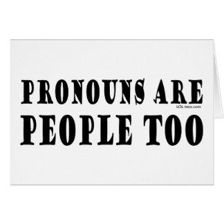 Carte Pronoms