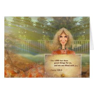 Carte Psaume 126 d'automne de conte de fées rempli avec