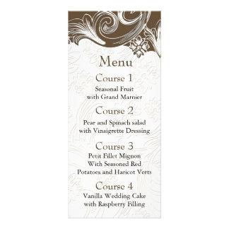Carte Publicitaire Brown et mariage floral blanc de ressort