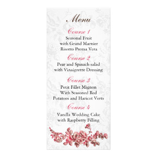 Carte Publicitaire Chic rougissent le mariage floral vintage rose