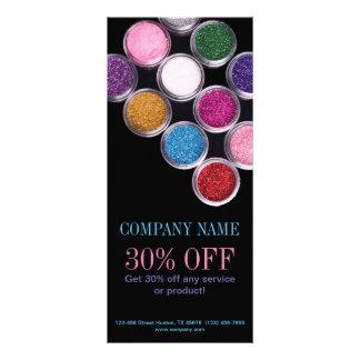 Carte Publicitaire Cosmetologist coloré de maquilleur de cosmétiques