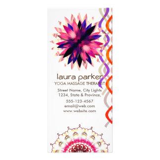 Carte Publicitaire Guérison de yoga d'aquarelle de fleur de Lotus