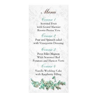 Carte Publicitaire Ivoire chic et mariage floral vintage de Teal